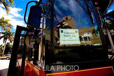 Conniston Family Day - Children arrive by Molly's Trolleys to Norton Museum