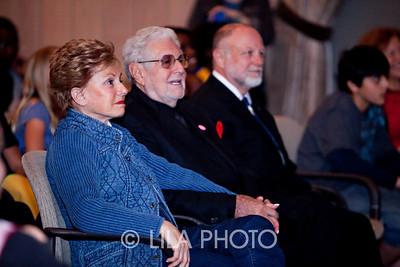 L-R: Muriel and Ralph Saltzman, Gary Broadaway