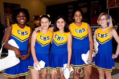 CMS Cheerleaders - Neveish Brown, Tifany Royle, Mercedes Velazquez, Arlinamy Sapuls, Cheryl Portz