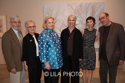 Robert & Joan Davis, Hope Alswang, Sylvia Mangold, Cheryl Brutvan, Robert Mangold