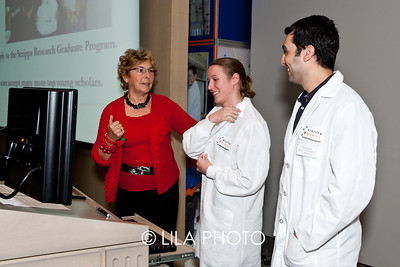 Leanna Landsmann with graduate students Christine Crumbley and David Marciano