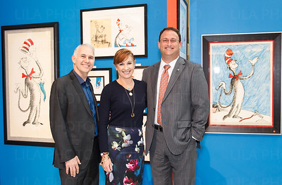 Bill Dreyer, curator of The Art of Doctor Seuss, Michele Jacobs, John Couris