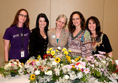 Kristina DaSilver, Dale Hirsch (Executive Director, Volunteer Broward), Dr. Elly du Pre (Executive Director, Lighthouse of Broward), Wanda Marti (workshop artist), Rosemary Blumberg (horticultural therapist); photography by: LILA PHOTO
