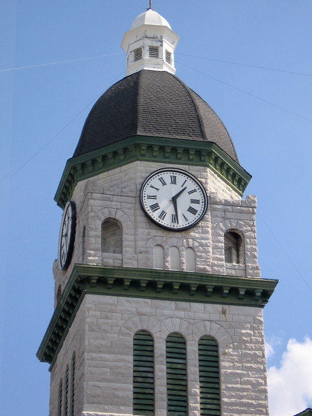 Close up of the clock tower.