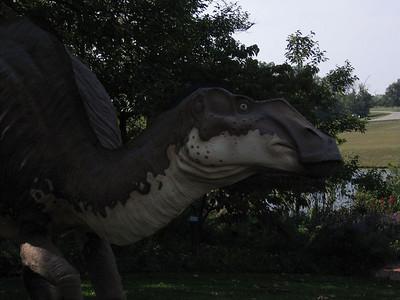 Dinosaurs in the garden