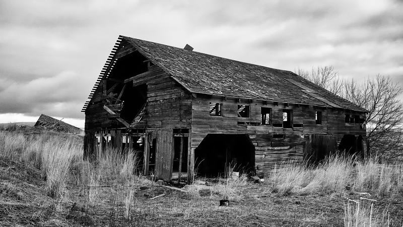 Crumbling Barn, Eastern Washington High Prairie