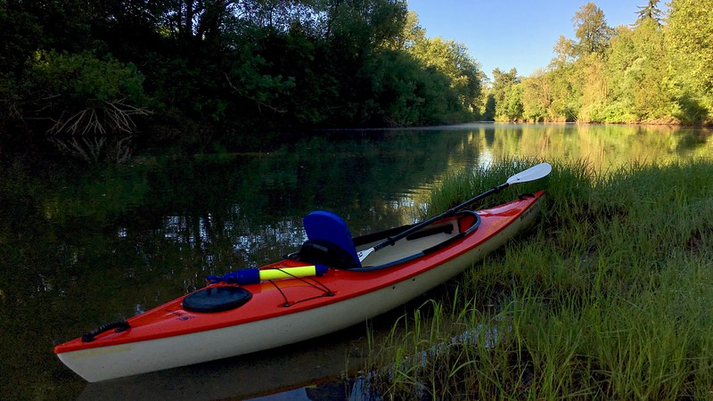 Kayaking the Yamhill River in Western Oregon