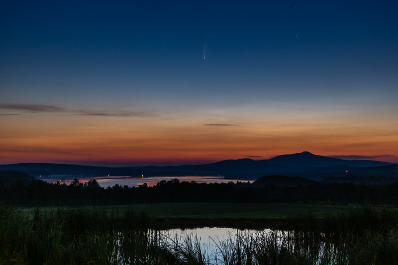 Comet Neowise Over Lake Carmi at Sunrise