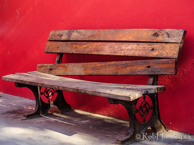 Bench in the main square, Sayulita.