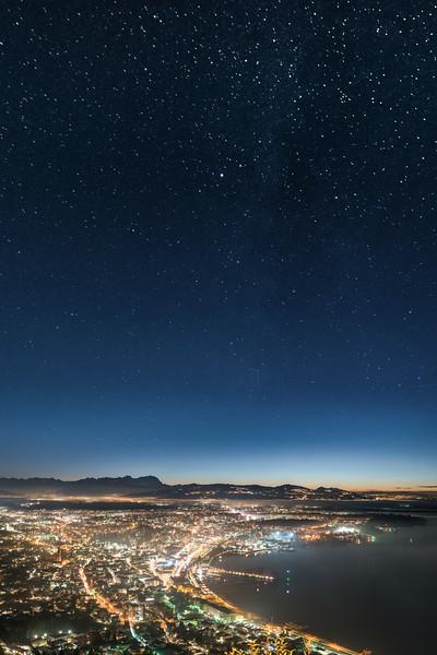 Bregenz mit Sternenhimmel