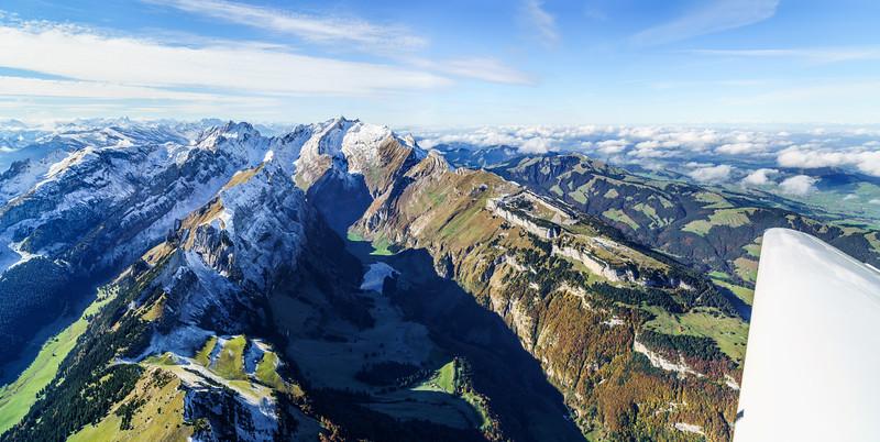 Flug über den Alpstein