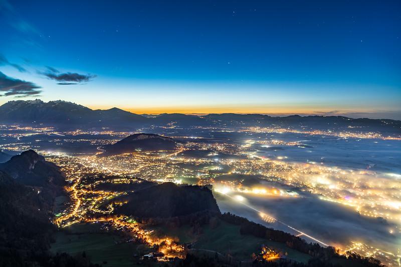 Nebelschwaden am Kummenberg