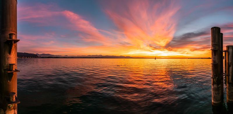 Sonnenuntergang am Kaiserstrand