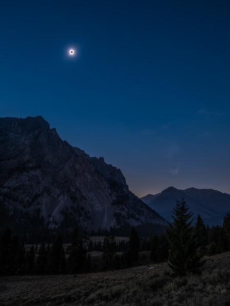 Solar Eclipse over the Lost River Range