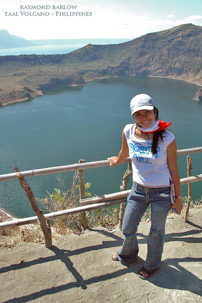 Taal volcano in Philippines.<br /> Daisy posing many years ago!  March 2, 2005<br /> <br /> This volcano is causing havoc in Philippines this past weekend, we hope everyone will be ok!