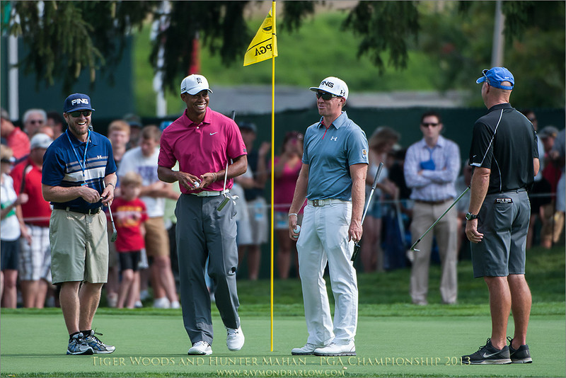 Tiger Woods and Hunter Mahan - PGA Championship