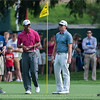 Tiger Woods and Hunter Mahan - PGA Championship