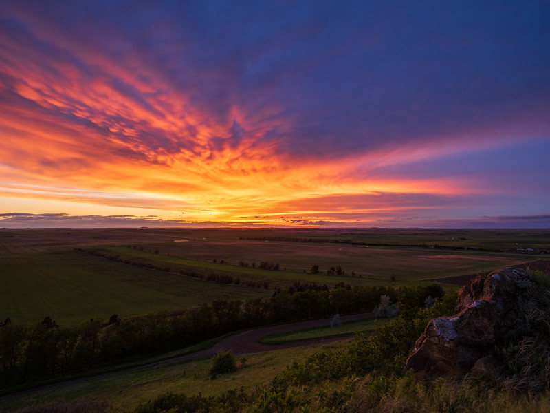 North Dakota Plains Sunset