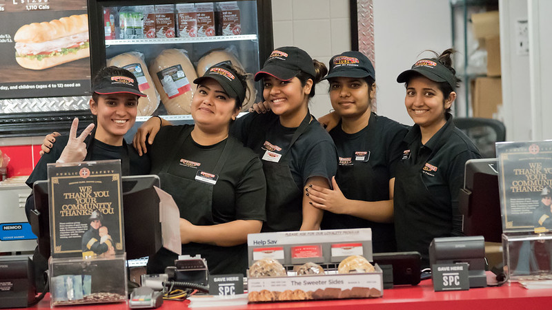 "Firehouse Subs in Niagara Falls.<br /> Wonderful young ladies!<br /> <br /> Firehouse Girls<br /> Ontario, Canada<br /> <br />  <a href=""http://www.raymondbarlow.com"">http://www.raymondbarlow.com</a><br /> Sony Alpha A9,Sony FE 100-400mm F4.5–5.6 GM OSS<br /> 1/640s f/5.0 at 146.0mm iso25600"