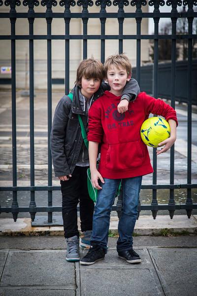Soccer Players in Latin Quarter