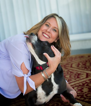 Hometown News - Paw Walkers - Ann Colonna with Tucker