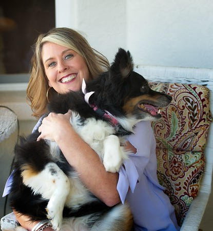 Hometown News - Paw Walkers - Ann Colonna with Lexi