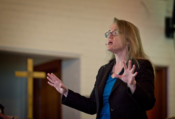 Guest Pastor Rev. Sarah Campbell at St. Mark's in Ocala