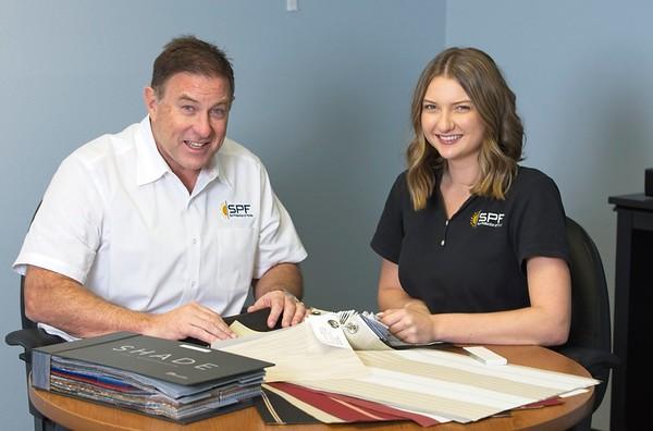 Hometown News - Sun Protection of Florida - Family business Owner Robert Falahee and daughter Ashlyn Falahee Sales Assoc