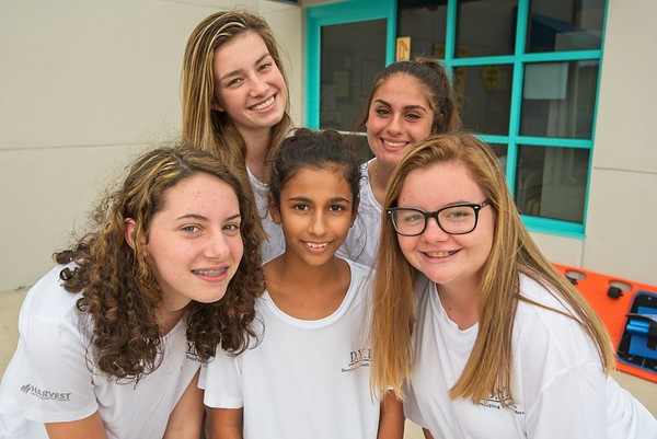 UMC shoot at the Lakewood Ranch YMCA.  Teen Leadership class. Graduates Erin Elizabeth Purcell, Sophie Preston, Victoria Somaroo, Leanne Ibsais, Callie Bua,