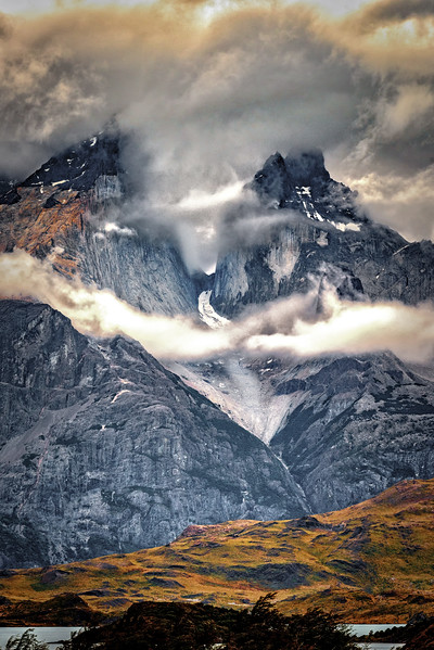 The Horns In Clouds Torres Del Paine