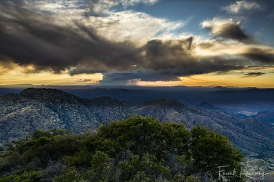 Kitt Peak Thunderhead at sunset