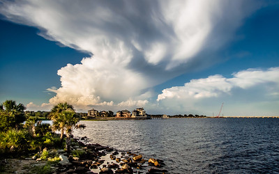 Clouds over Pensacola Bay