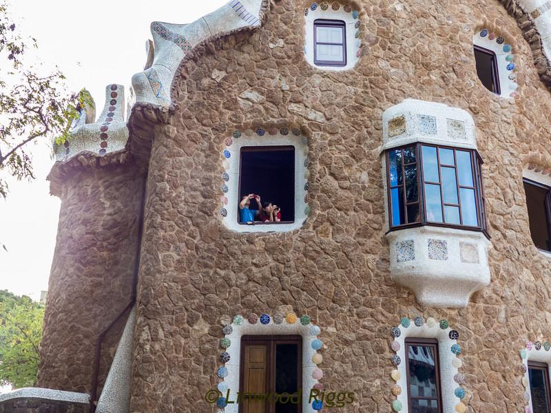 Caretaker's cottage at Park Guell in Barcelona.