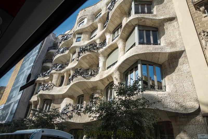 Casa Mila, another of Gaudi's designs in Barcelona.