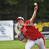 KAYLA BREEN/ STAFF PHOTOS<br /> Saranac's Zack Marlow delivers a pitch against a Plattsburgh High batter during Wednesday's Section VII Class B baseball championship game at Chip Cummings Field in Plattsburgh.