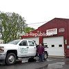 KAYLA BREEN/ STAFF PHOTO<br /> Jeff Labounty of Labounty's Wrecker Service in Plattsburgh stands besides the tow truck at his shop on Sharron Avenue. Tow-truck operators will be able to charge more for towing vehicles in the City of Plattsburgh, thanks to action approved by the Common Council.
