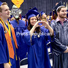 GABE DICKENS/ P-R PHOTO<br /> As part of the spring 2017 Clinton Community College Commencement ceremony, Associate of Applied Science nursing degree recipients (from left) Keoni Latimore, Loni LaPoint and Adam LaDuke, along with the rest of the graduates, take a moment to show their appreciation for the love and support of friends and family. Those loved ones gathered in Forrence Center Friday evening to watch graduates receive their certificates and degrees. A total of 167 students were eligible for graduation, with 170 degrees and certificates presented.