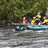 "KAYLA BREEN/ STAFF PHOTO<br /> Saranac Volunteer Fire Department Fire Chief Don Uhler works the oars to navigate Class III rapids on the Saranac River below the Ore Bed Road bridge in the hamlet of Redford during Rescue 3's Swiftwater and Floodwater Technician School. Fire and rescue personnel from both New York and Vermont attended the classes, which offered self-rescue and team-rescue training, as well as proper ways to cross rivers and streams safely. Swift water rescue training is essential for rescuers in the region, since the Adirondacks are a popular spot for water activities, Uhler said. ""People get in trouble with the big rapids,"" he said. ""If you're not prepared or experienced, you really should stay away from the river unless you have knowledge or some people who have knowledge and proper training before you go into those areas."""