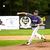 KAYLA BREEN/ STAFF PHOTOS<br /> Ticonderoga's Dalton Granger pitches to an AuSable Valley batter during Tuesday's Section VII Class C baseball championship at Chip Cummings Field in Plattsburgh.