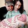 GABE DICKENS/P-R PHOTO 1-2-2017<br /> Nicole Laney and her boyfriend, Chris Forster, welcomed their first child, Fiona Shea Forster, at 10:40 a.m. Sunday, at the University of Vermont Health Network, Champlain Valley Physicians Hospital. She was the first baby born in Plattsburgh in 2017.