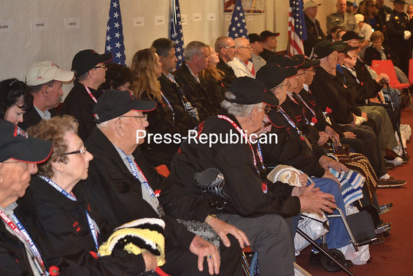 ALAN CARLON GOODMAN/ P-R PHOTO<br /> Sixteen veterans from World War II and the Korean War enjoyed a day visiting the war memorials in Washington, D.C., on Saturday, thanks to North Country Honor Flight. It was the local nonprofit group's 18th trip, held in conjunction with PenAir.