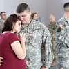 GABE DICKENS/ P-R PHOTO<br /> U.S. Army Reserves Sgt. E5 Antonio Garrison shares a moment with his wife, Chelsea, during a sendoff luncheon at the U.S. Reserves Building in Plattsburgh Saturday afternoon. Chelsea will be giving birth to their daughter, Anna Lise Garrison, next month while Antonio and his fellow soldiers will be stationed in Europe as part of Operation Atlantic Resolve for the next year.