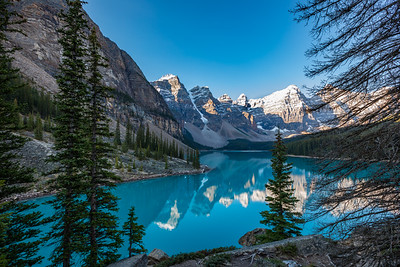 Moraine Lake at Dawn - Banff National Park Alberta, Canada