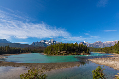 Athabasca River on the Icefields Parkway Alberta Canada: Google Plus code here: 9544H7M5+CW