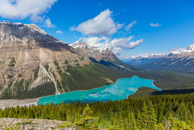 Peyto Lake after the 2 mile Mountain Top Hike