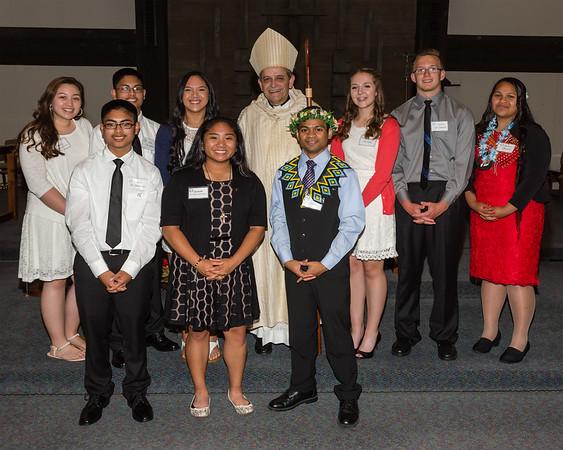 June 3, 2016 - Confirmation Group with Bishop Eusebio Elizondo
