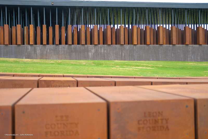 Memorial Monuments dedicated to victims of racial terror lynching, listed by county.  National Memorial for Peace and Justice, Montgomery AL