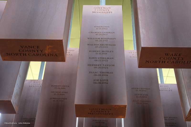 National Memorial for Peace and Justice, Montgomery AL