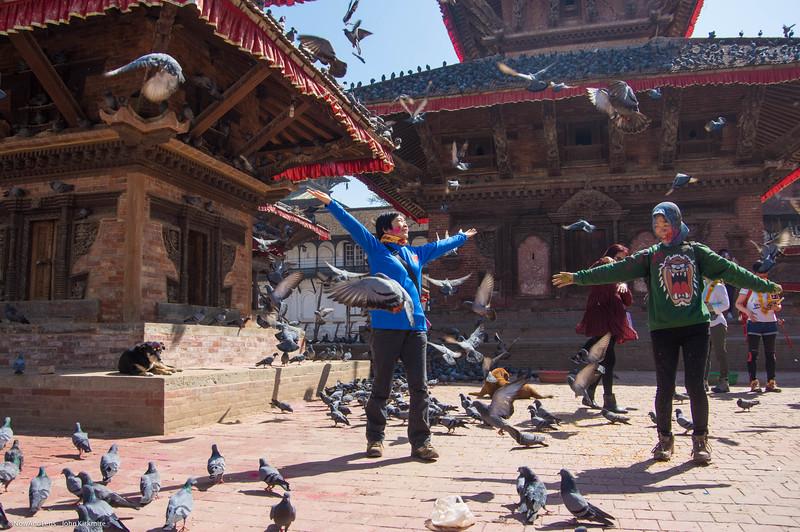 Tourists & Pigeons, Old Kathmandu