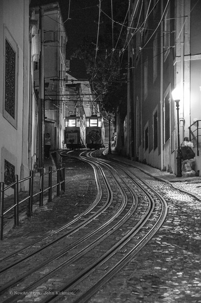 Gloria street cars, Lisbon